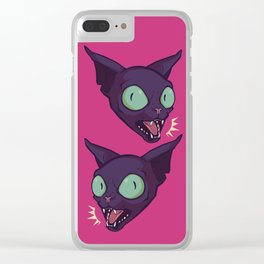 Mad Cat Clear iPhone Case