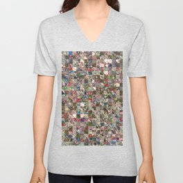 Colorful Quilt Pattern Unisex V-Neck