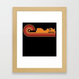 Retro Style Huntsville Alabama Skyline Framed Art Print