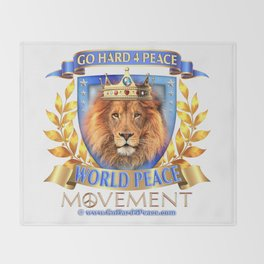 Go Hard 4 Peace, Love & Unity Throw Blanket