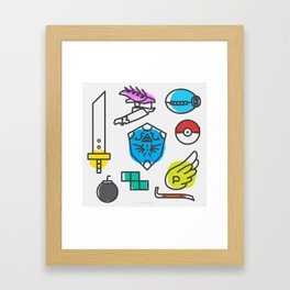 Legendary Videogame Weapons Framed Art Print