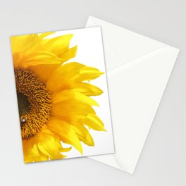 yellow sunflower Stationery Cards