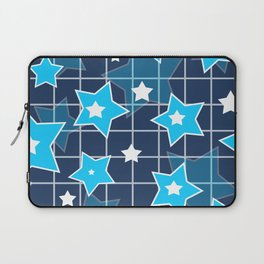 Light blue stars Laptop Sleeve