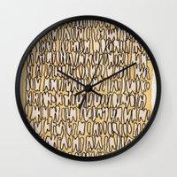 teeth Wall Clocks featuring Teeth by Jason Covert