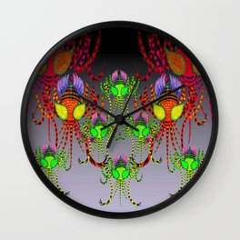 Mosquito tigers everywhere Wall Clock