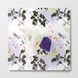 Purple abstract nature pattern Metal Print