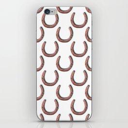Rusty Horseshoe Polka Dot Pattern iPhone Skin