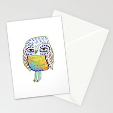 colorful Owl, owl art, owl design, owl print, Stationery Cards