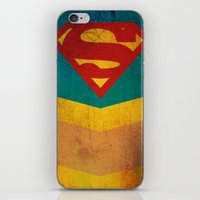 supergirl iPhone & iPod Skins featuring Supergirl by Fries Frame