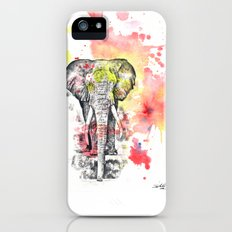 Elephant in a Splash of Color Painting Slim Case iPhone (5, 5s)