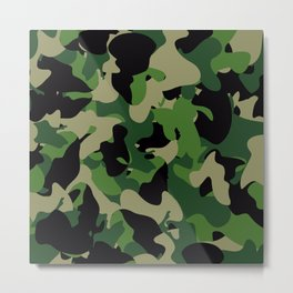 Camouflage Jungle style Metal Print