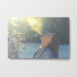 winter girl Metal Print