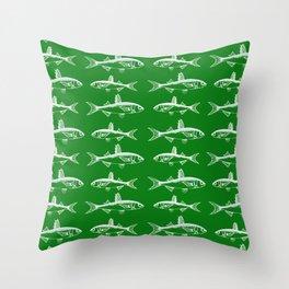 Emerald Fish Throw Pillow