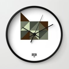 Geometric Oregon Wall Clock