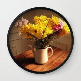 morning bouquet Wall Clock