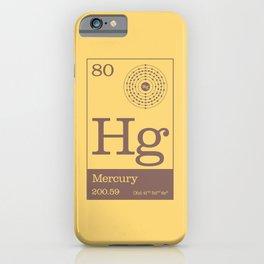 Periodic Elements - 80 Mercury (Hg) iPhone Case