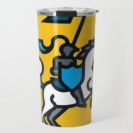 Knight on Yellow Travel Mug