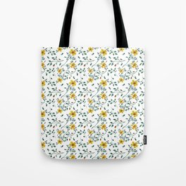 Water colored wild flowers Tote Bag
