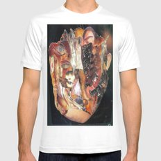 re:3 White MEDIUM Mens Fitted Tee