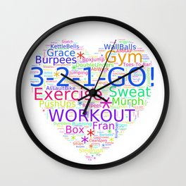 Love to Exercise & Work Out - Workout Love Wall Clock