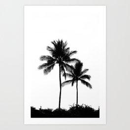 Palm Tree Noir #9 Art Print