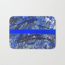 Blue Line of Sorrow Bath Mat