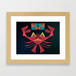 Felipe Teh Crab Framed Art Print