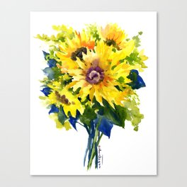 Colors of Summer, Sunflowers, Country style french country design Canvas Print