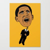 obama Canvas Prints featuring Obama by Gnarleston