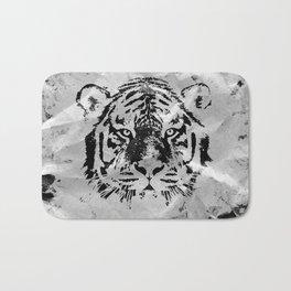 Black and white Tiger portrait  on paper canvas Bath Mat
