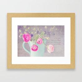 Ranunculus Cup Framed Art Print