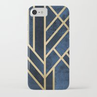 deco iPhone & iPod Cases featuring Art Deco Midnight by Elisabeth Fredriksson