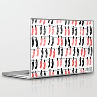 socks Laptop & iPad Skins featuring Hanging socks by Periwhat