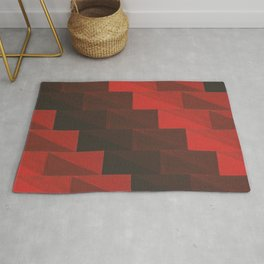 Red stairs Rug