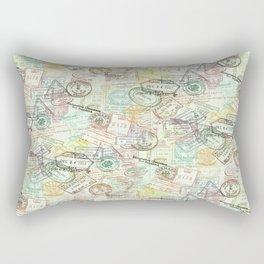Passport Stamps Rectangular Pillow