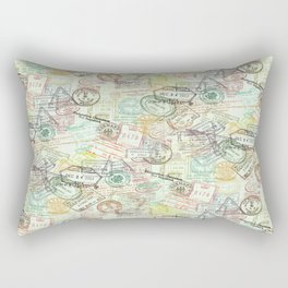 Passport Stamps Rectangular Pillow