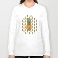 pineapples Long Sleeve T-shirts featuring Pineapples by brocoli art print