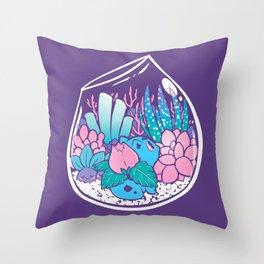 Starter Terrarium  Kit Throw Pillow