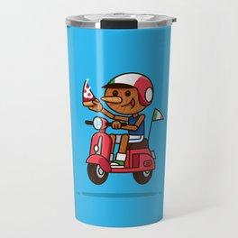 Italy! Pinocchio Eat Pizza and Ride Vespa Travel Mug