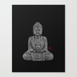 Buddha Lines Canvas Print