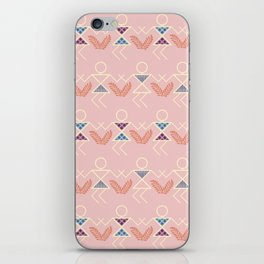 Peach Warli Print iPhone Skin