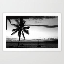 Palm Tree Noir #32 Art Print