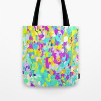 confetti Tote Bags featuring Confetti  by Maggie Dylan