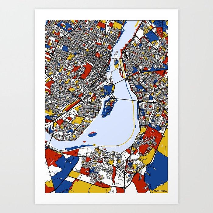 montreal mondrian map Kunstdrucke