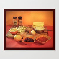 baking Canvas Prints featuring Baking Cookies by Bebop's Place
