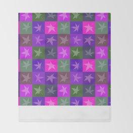 Purple Foliage Fantasy Throw Blanket