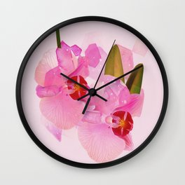 broken orchid Wall Clock