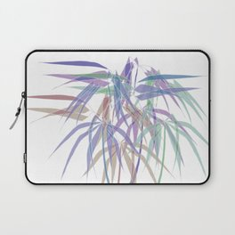 Bamboo Leaves - White Lines - Multycolor Laptop Sleeve