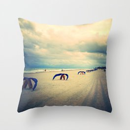 before the deluge (facing right) Throw Pillow