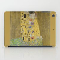 gustav klimt iPad Cases featuring The Kiss - Gustav Klimt by Elegant Chaos Gallery